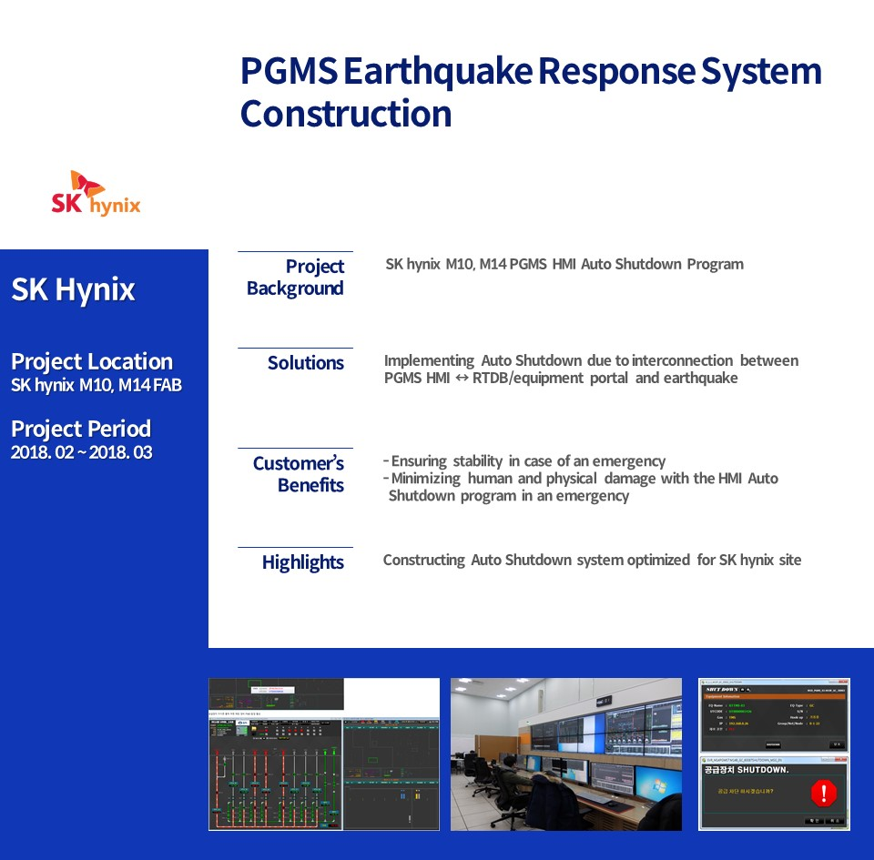 PGMS Earthquake Response System Construction