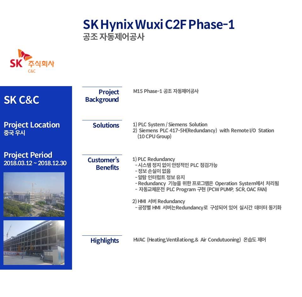 SK Hynix Wuxi C2F Phase-1 HVAC Auto Control Construction