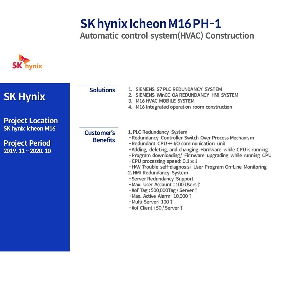 SK hynix Icheon M16 PH-1  Automatic control system(HVAC) Construction