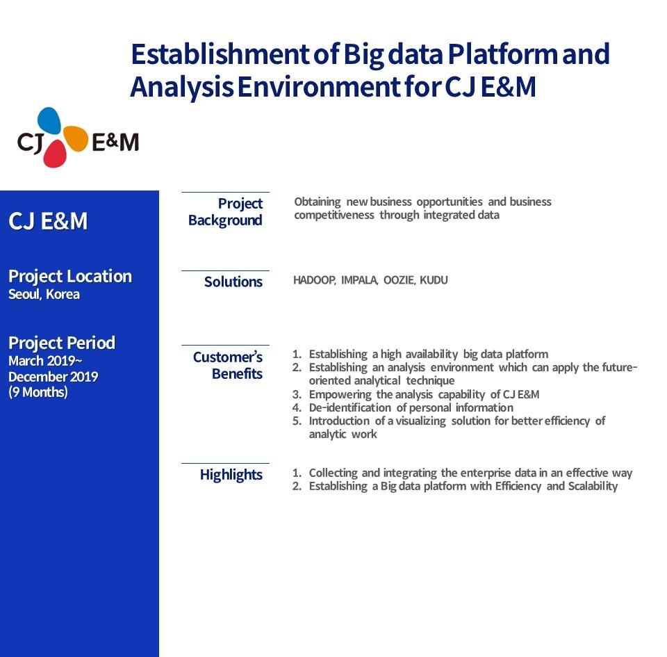 Big data Platform and Analysis Environment for CJ E&M