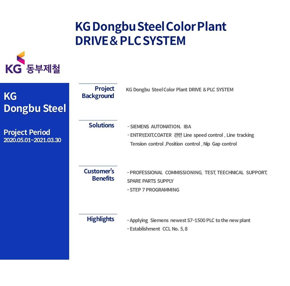 KG Dongbu Steel Color Plant DRIVE & PLC SYSTEM