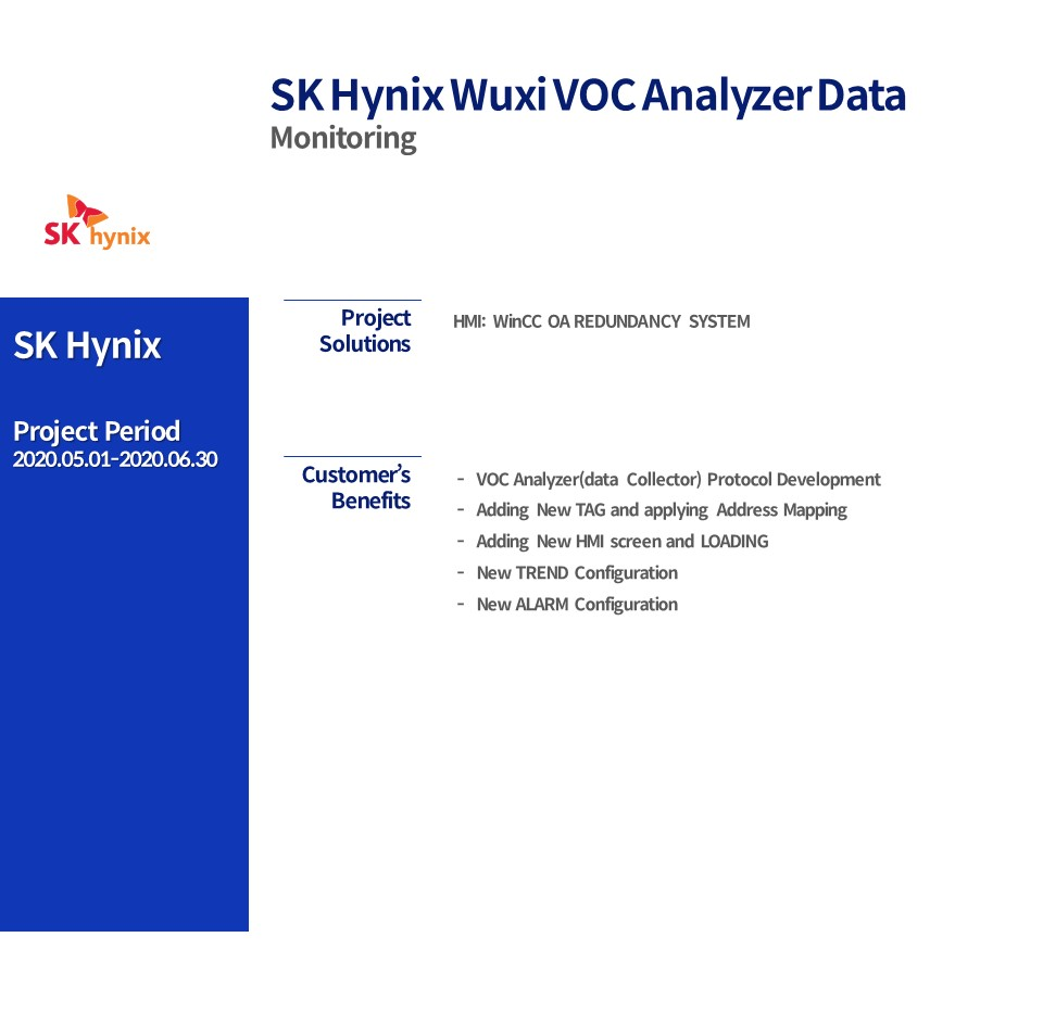 SK HYNIX Wuxi VOC Analyzer Data Monitoring